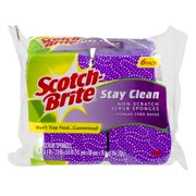 Scotch-Brite Stay Clean Scrub Sponges, 6.0 CT