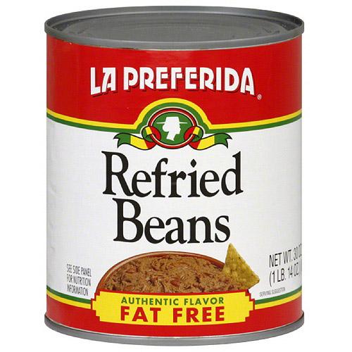 La Preferida Fat Free Refried Beans, 30 oz (Pack of 12)