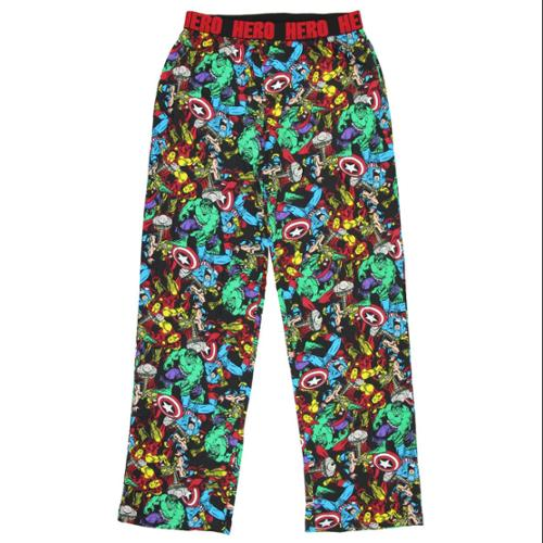 Marvel Comics Avengers Thor Hulk Iron Man Graphic Sleep Lounge Pants