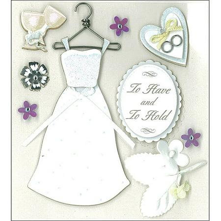 K & Company Dimensional Stickers, Classic Wedding