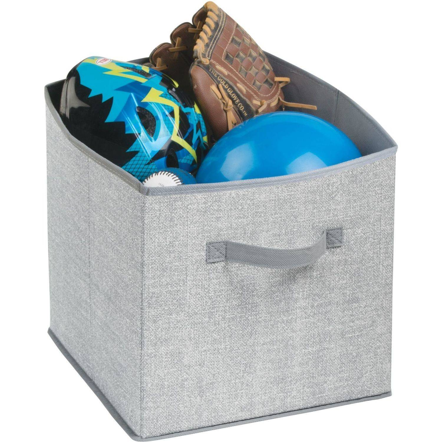 InterDesign Aldo Fabric Storage Cube, Grey