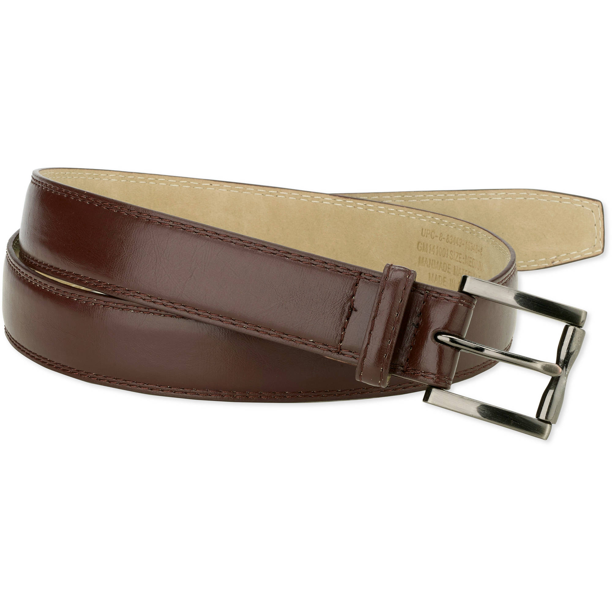George Men's 32mm Feather Edge Double Stitch Belt