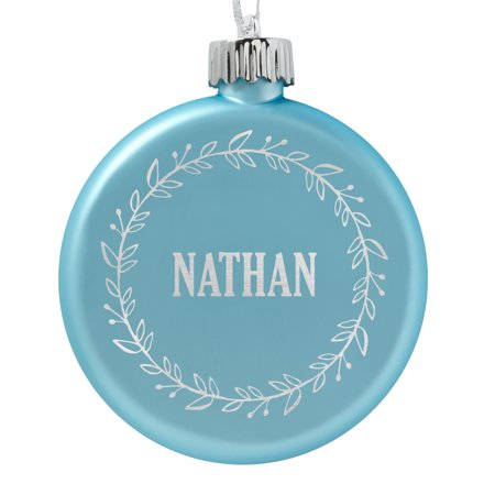 Christmas Personalized Ornaments (Personalized Birthstone Lighted Christmas Ornament - March - Wreath-Available in 3)
