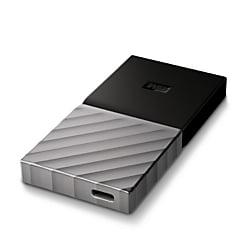 Western Digital® My Passport™ Portable External Solid State Drive, 256GB, WDBKVX2560PSL-WESN, Black/Gun Metal