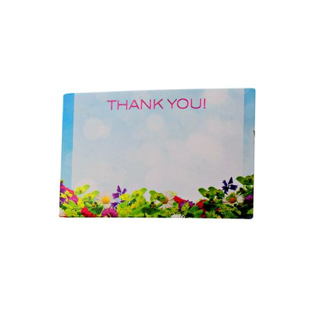 Thank you Flowers 50 pack 2-1/4 inches x 3-1/2 inches Premium Enclosure Flower Gift (Tree Gift Enclosure)