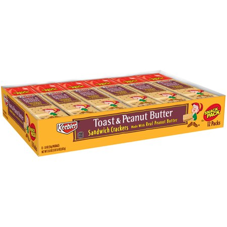 Keebler Snack Sandwich Crackers, Toast & Peanut Butter, 8 Ct (Pack of 12)](Toasts D'halloween)