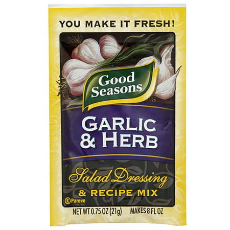 Good Seasons Garlic & Herb Salad Dressing & Recipe Mix, 0.75 oz, (Pack of (Make Your Own Good Seasons Italian Dressing)