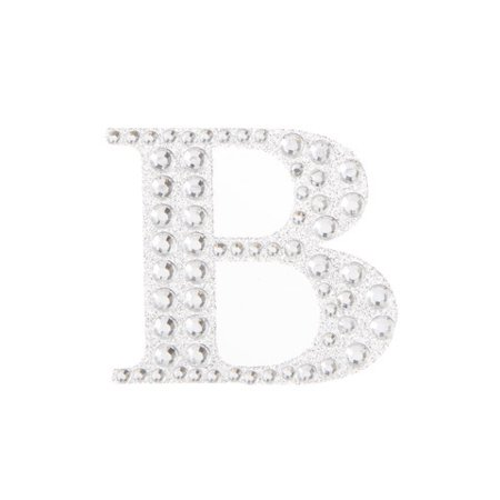 Customize your favor boxes, wedding invitations, and more with bling stickers. This sparkly silver letter B adds a unique look to your projects.