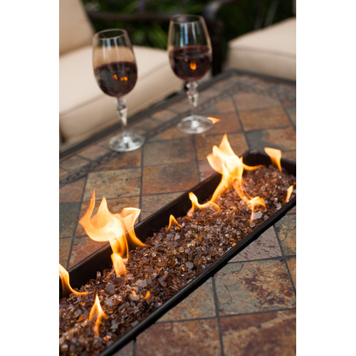 Oakland Living Vienna Aluminum Propane Fire Pit Table