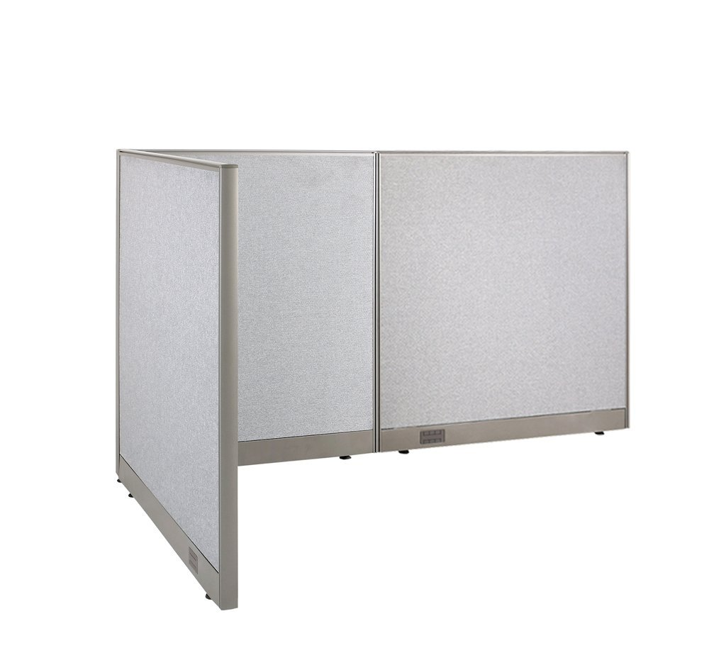 Superior GOF L Shaped Freestanding Office Panel Cubicle Wall Divider Partition 48D X  84W X 48H