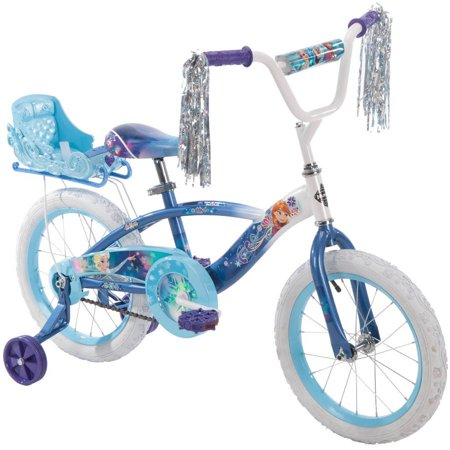 Disney Frozen 16 Girls Blue Bike With Sleigh By Huffy