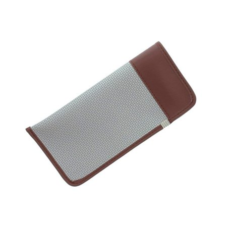 Leather Like Slip In Eyeglass Case, Fits Medium to Large Frames, Silver ()