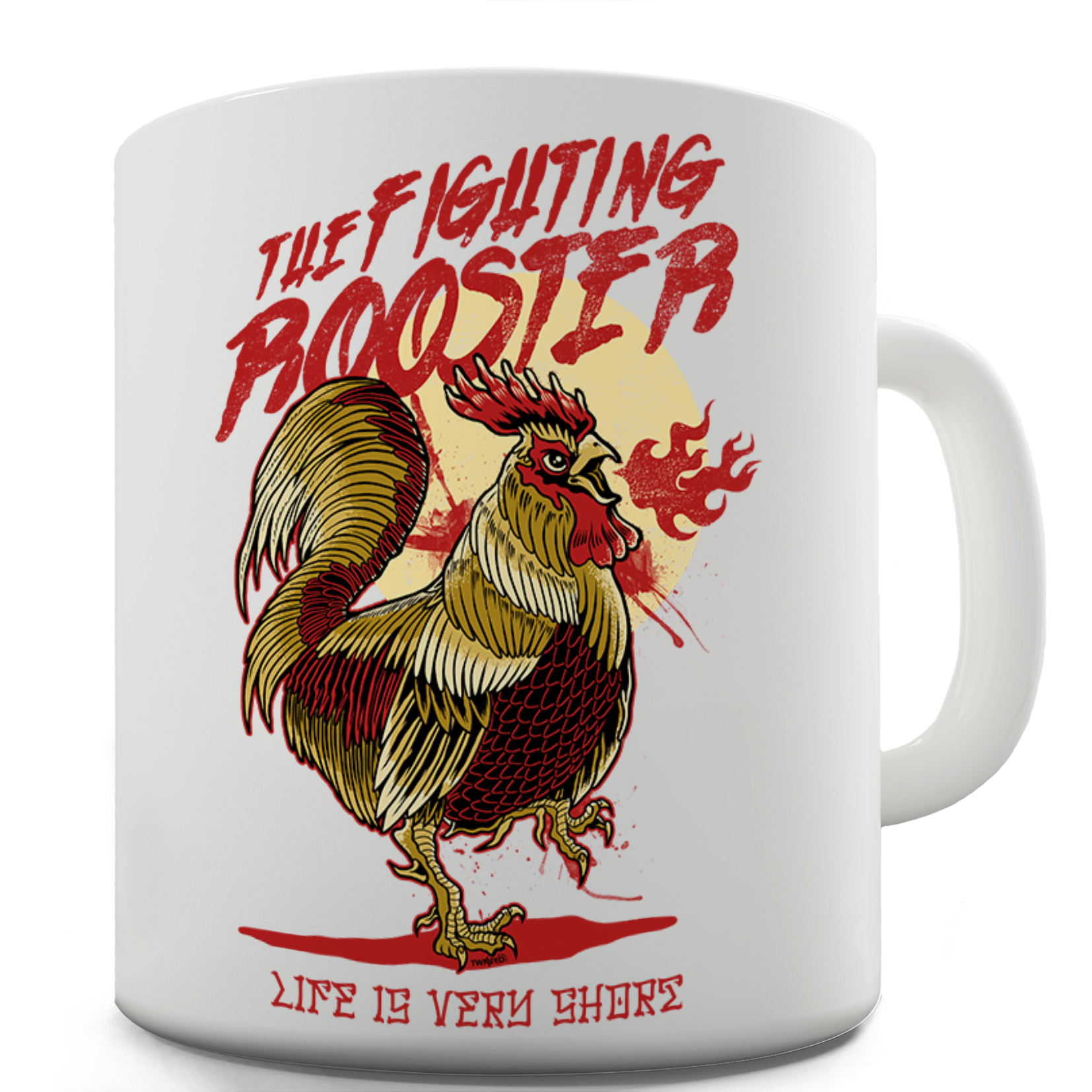 The Fighting Rooster Funny Coffee Mug 15 OZ