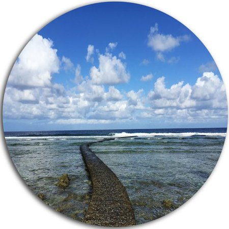 Design Art Rocky Coast Along Pacific Ocean Photographic Print On Metal
