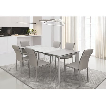 Orren Ellis Ines 7 Piece Extendable Dining Set Walmart Com