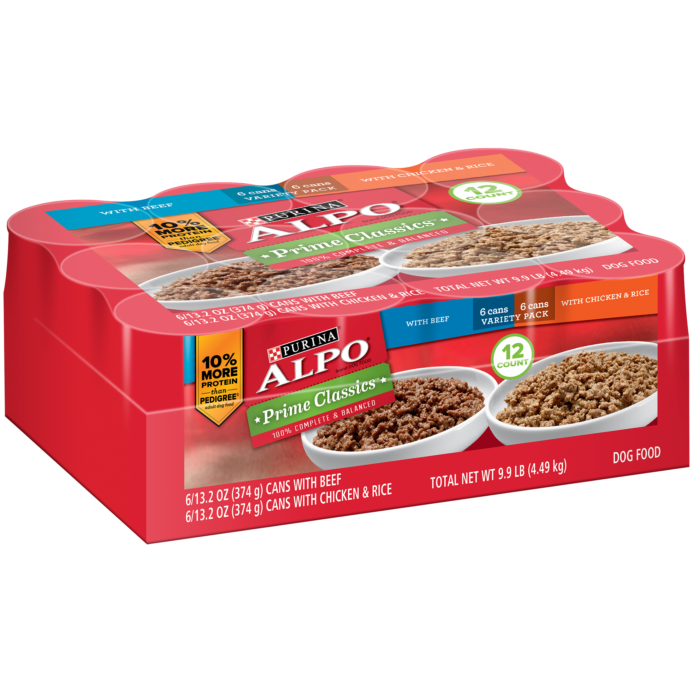 Purina Alpo Prime Classics Variety Pack Dog Food 12-13.2 oz. Cans