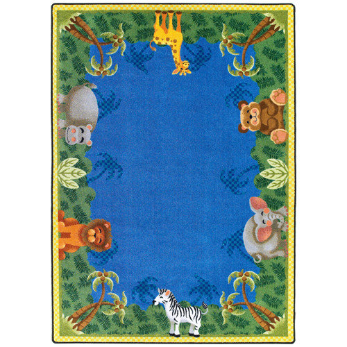 Joy Carpets Just for Kids Jungle Friends Area Rug