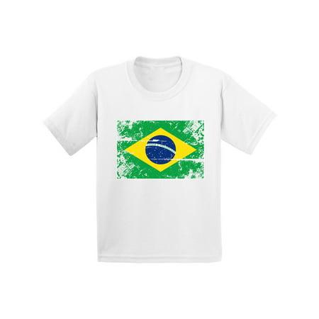 Kids Brazil (Awkward Styles Brazil Flag Toddler Shirt Flag of Brazil Brazilian Kids Shirt Kids Brazil Soccer Tshirt Soccer Gifts for Boys Brazil Shirt for Girls Brazilian Soccer 2018 Tshirt Brazil Gifts for Kids )