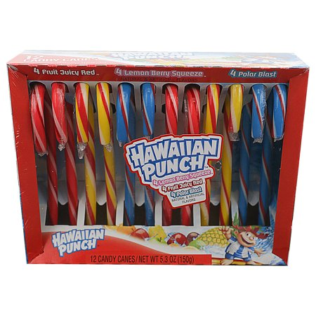 Hawaiian Punch Canes, 5.3 Oz. - Candy Cane Spoons