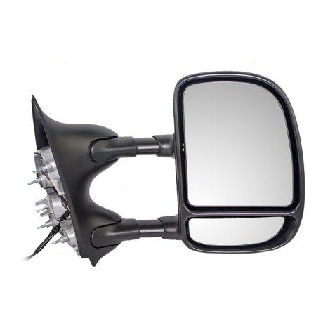 BROCK Telescopic Tow Power Side View Mirror with Dual Arms Driver and Passenger Replacements for Ford Super Duty Pickup Truck Excursion SUV 3C3Z 17683