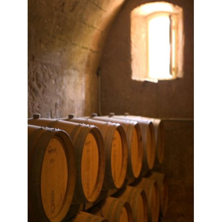 Niebaum-Coppola Estate Winery Wine Cellar, Rutherford, Napa Valley, California Print Wall Art By Walter Bibikow (Napa Cellars Winery)