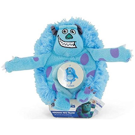 Disney Pixar Monsters Inc Sulley Hideaway Pets Small Pillow Plush 6