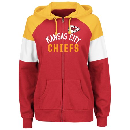 Kansas City Chiefs Majestic Women's Hot Route Full-Zip Hoodie - (Best Hot Dogs In Kansas City)