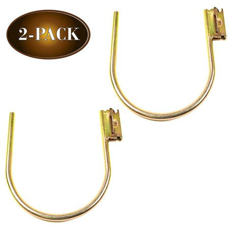 "E-Track Large 7"" J Hook Tie Down Accessory (2 Pack) for Enclosed Trailer/RV for Helmets, Ropes, Motorcycle Jackets, Pipes, Hoses and Cables (Motorcycle Helmet And Jacket)"