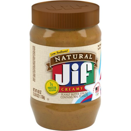 Jif Natural Creamy Peanut Butter, 40 oz