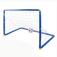 9d16363a0bc Product Image Kids Sports Soccer Goals with Soccer Ball and Pump Practice  Scrimmage Game Large Size - Blue