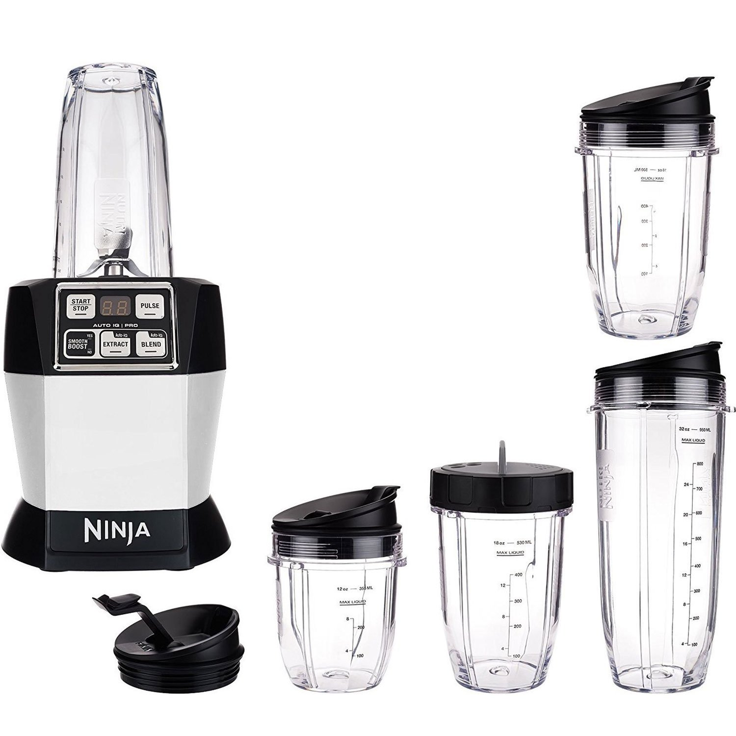 Nutri Ninja Auto iQ Pro Complete Counter Blender, Silver (Certified Refurbished)