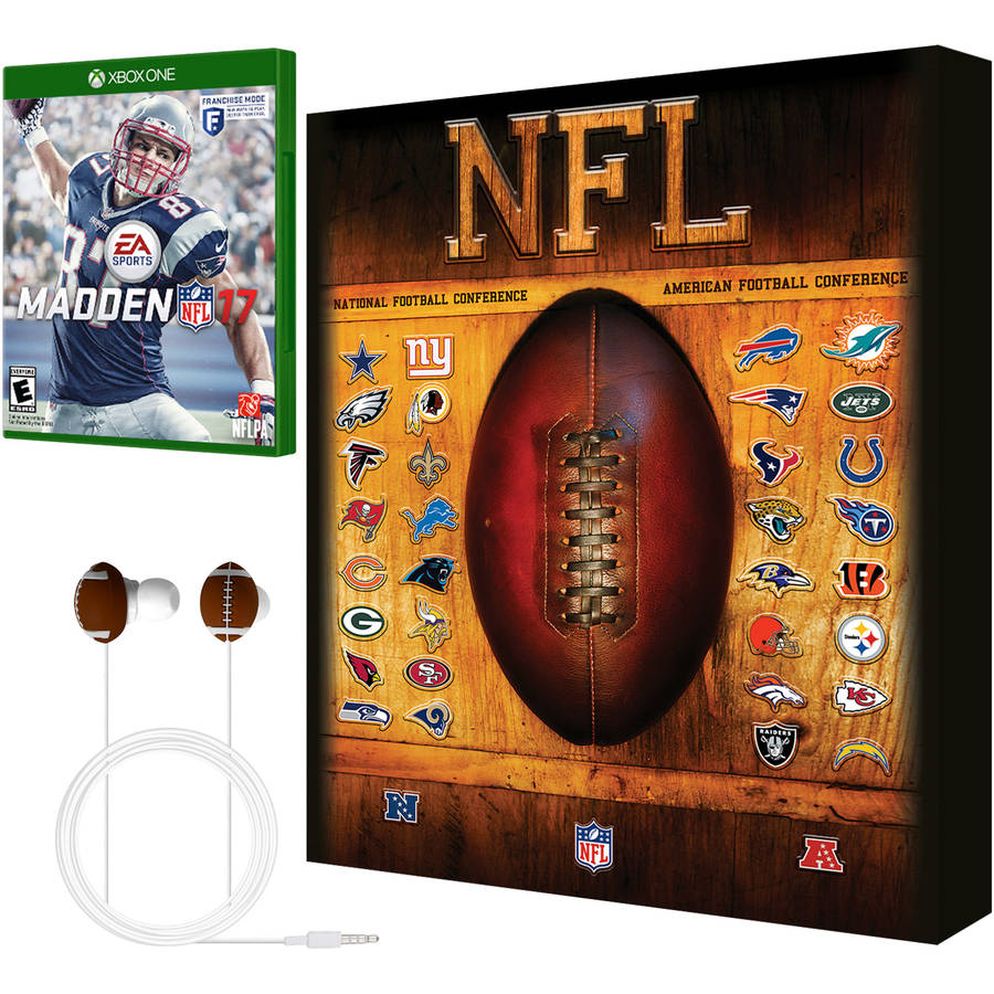 Madden NFL 17 Earbud and Wall Art Bundle - Walmart Exclusive (Xbox One)