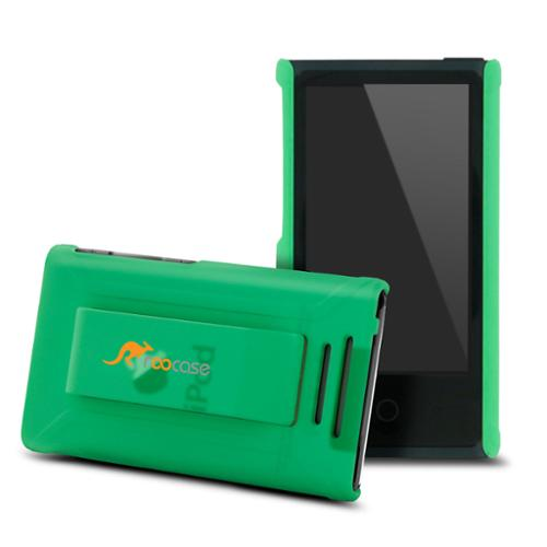 iPod Nano 7 Case - rooCASE Ultra Slim Fit (Matte Green) Shell Case Cover for Apple iPod Nano 7 (7th Generation)