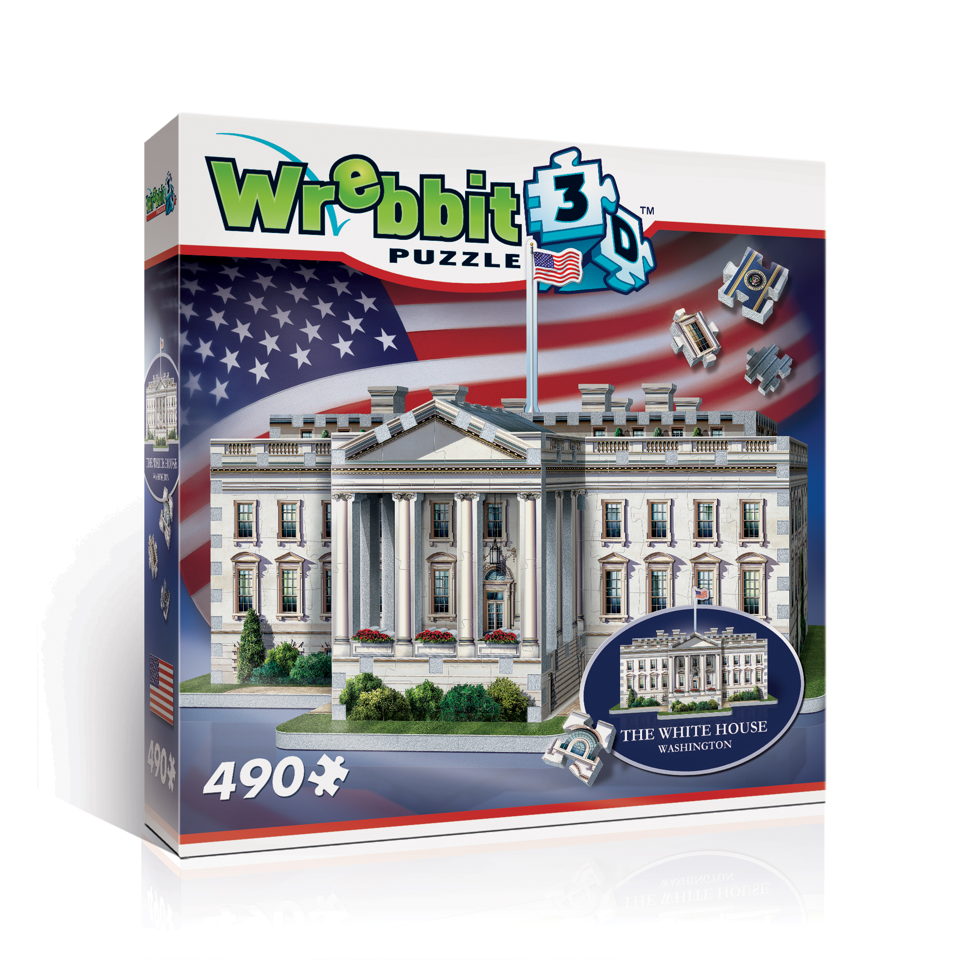 Wrebbit - The White House 490 Piece 3D Puzzle