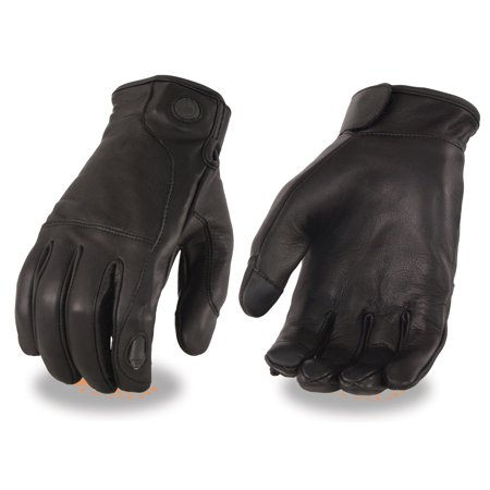 Milwaukee Leather Mens Leather Gloves with LED Finger Lights - Gloves With Led Lights