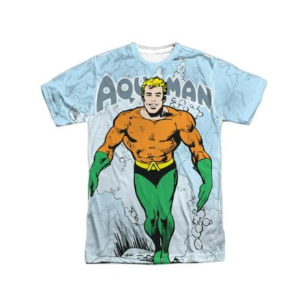 Classic Adult Comics (DC Comics Classic Friendly Aquaman And Logo Adult Front/Back Print)