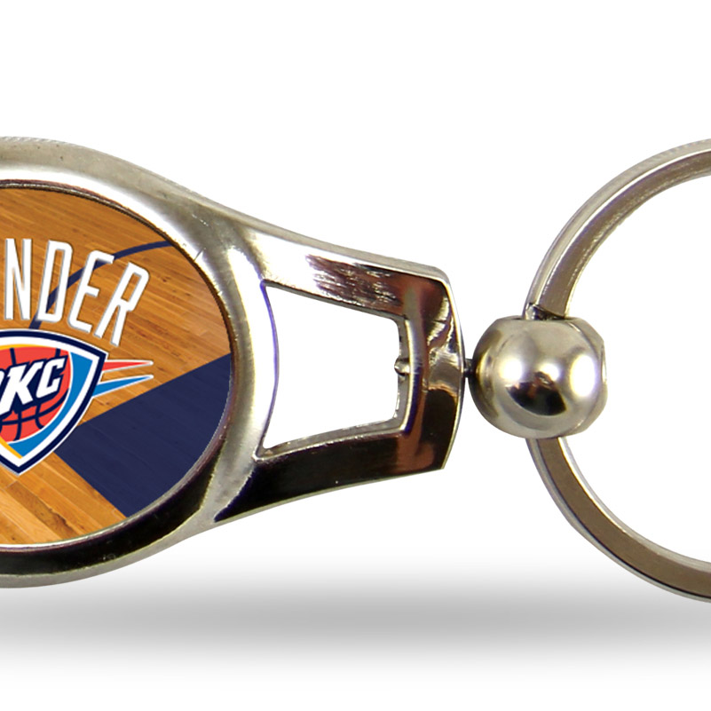 Oklahoma City Thunder Official NBA 2 inch  Oval Key Chain Keychain by Rico