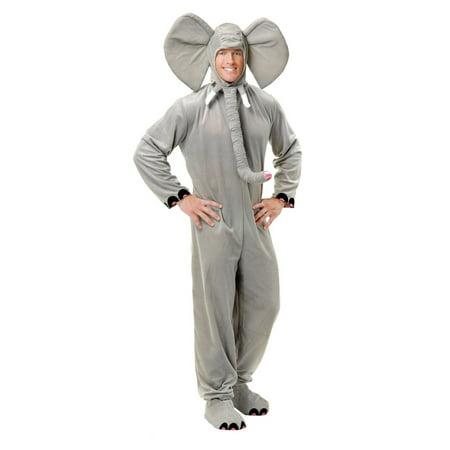 Elephant Onesie Adult (Halloween Elephant Adult Grey)