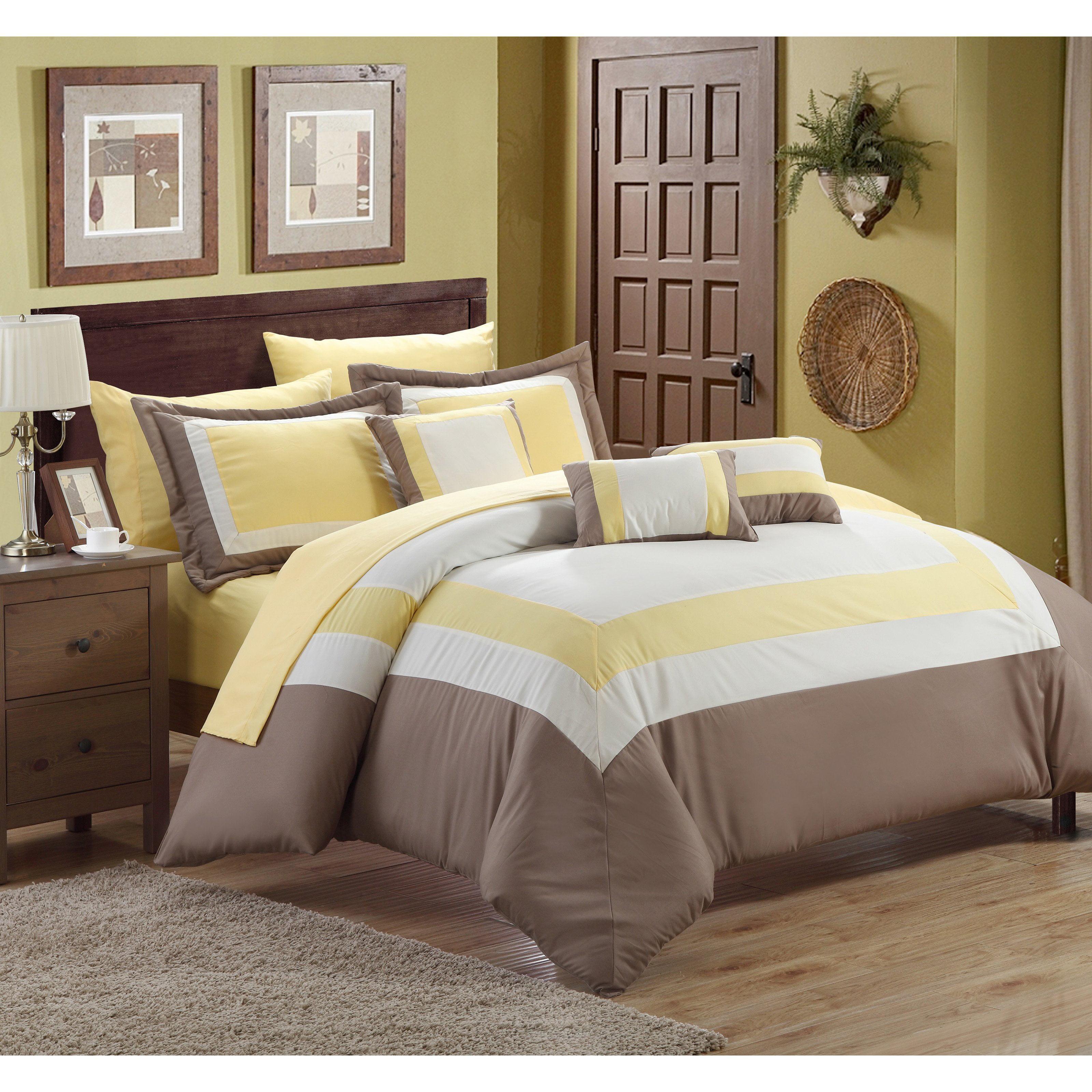 Chic Home Duke 10 Piece Bed in a Bag Comforter Set - Walmart.com