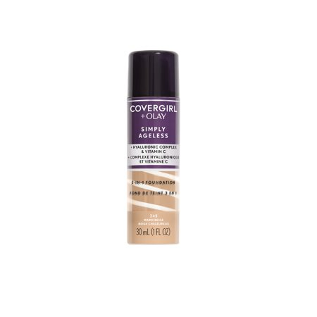 COVERGIRL + OLAY Simply Ageless 3-in-1 Liquid Foundation, 245 Warm Beige