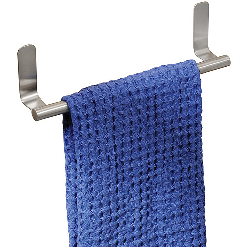InterDesign Forma Self-Adhesive Towel Bar Holder for Bathroom or Kitchen, Stainless Steel