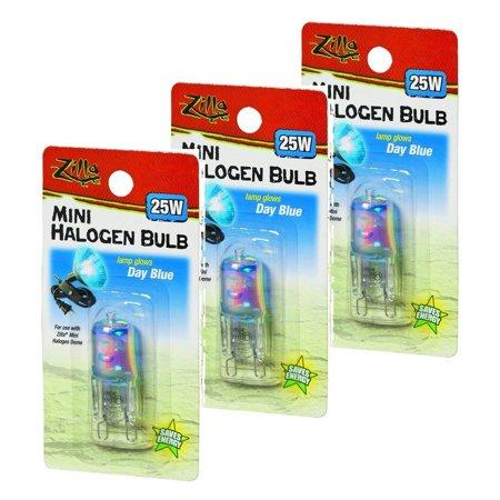 Mini Halogen Lamp Reptile Bulb, 25-watt, Day Blue (3 Pack), Pack of Three 25 Watt Mini Halogen Lamp Reptile Bulb, Day Blue By (Hagen Reptile Lamp)