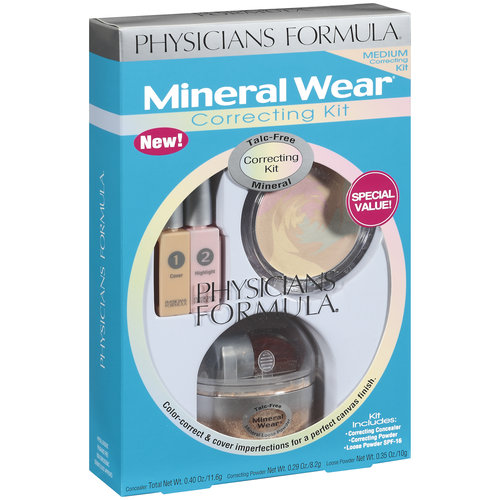 Mineral Wear Talc-Free Mineral 3 Piece Correcting Kit Special Value, Medium