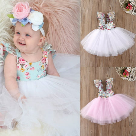 Fancy Dress Toddler (Christmas Fancy Kids Baby Girls Floral Dress Party Gown Formal Dresses)