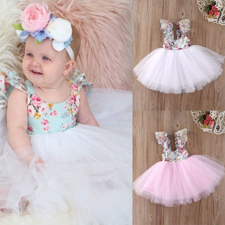 Christmas Fancy Kids Baby Girls Floral Dress Party Gown Formal Dresses Sundress - Kids Fancy Dress Next Day Delivery