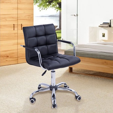 Modern Tufted PU Leather Midback Home Office Chair ()