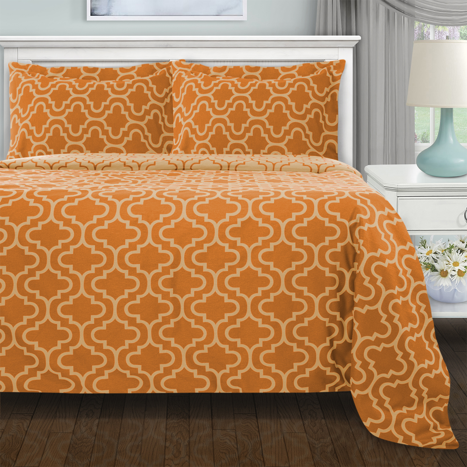Extra Soft Reversible Duvet Cover Set Trellis