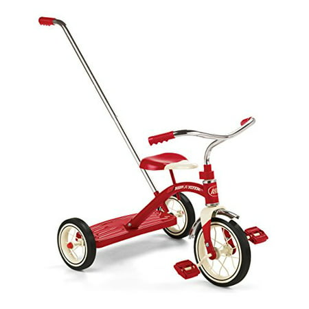 Flair Handles - Radio Flyer Classic Tricycle with Push Handle, Red