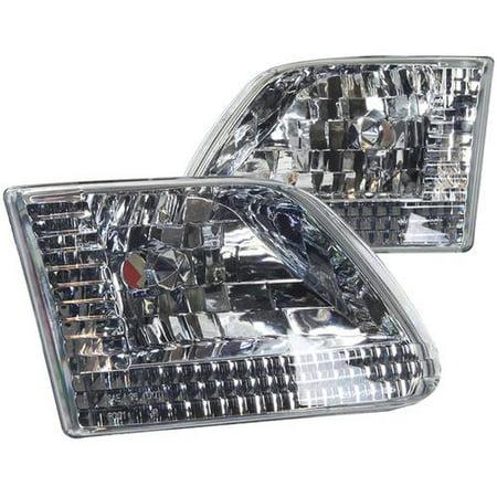 F150 Headlight Lens (Headlight For 97-03 Ford F150 Chrome/Clear Lens, Pair )