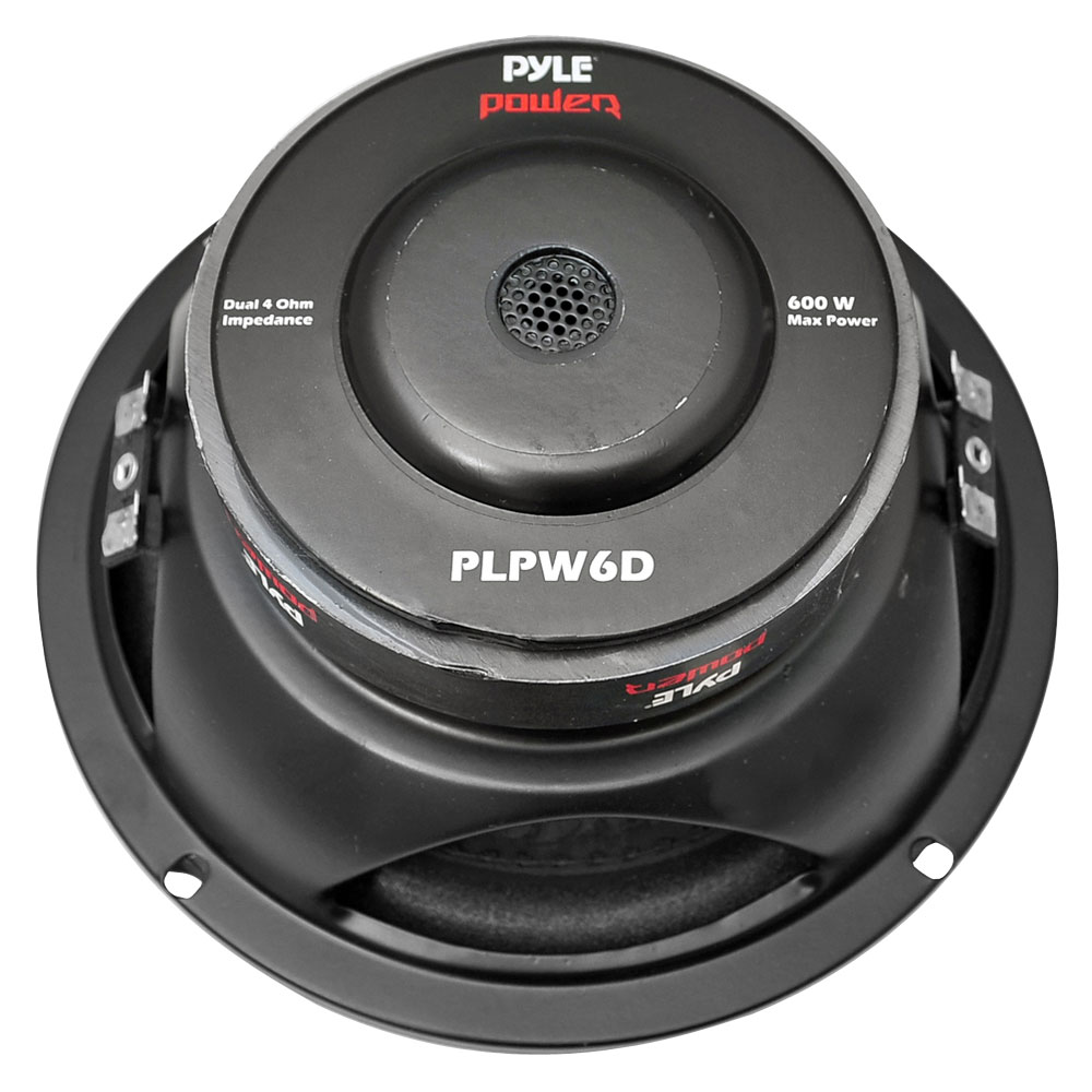 """Pyle PLPW6D 6"""" 600W Max Dual Voice Coil 4-Ohm Car Stereo"""